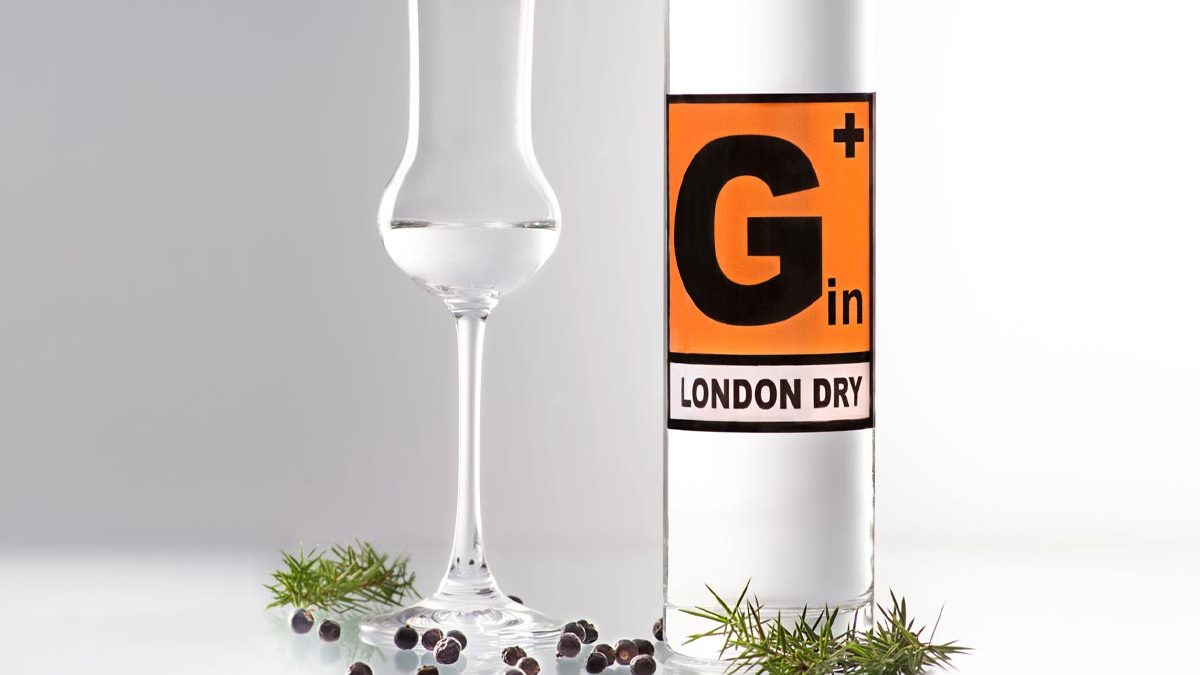 hohe, schlanke 500ml Flasche G+ London Dry