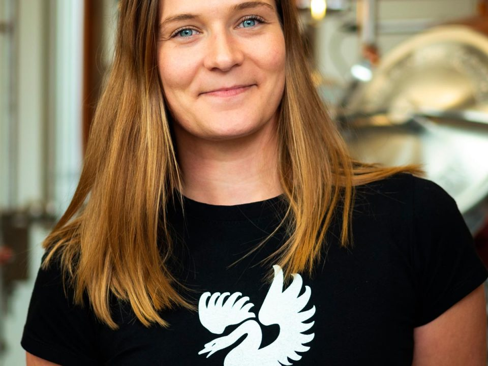 Portrait photo of Bettina Sturmann, Procurator at Distillery Krauss
