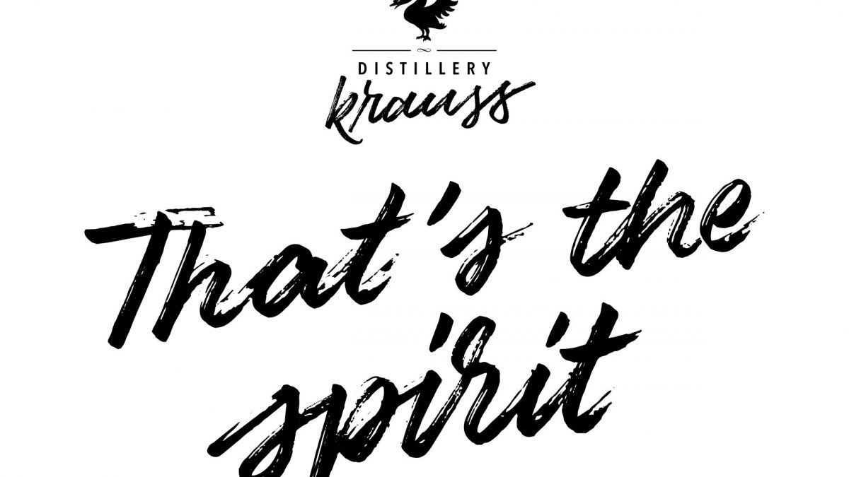 Distillery Krauss logo plus thats the spirit