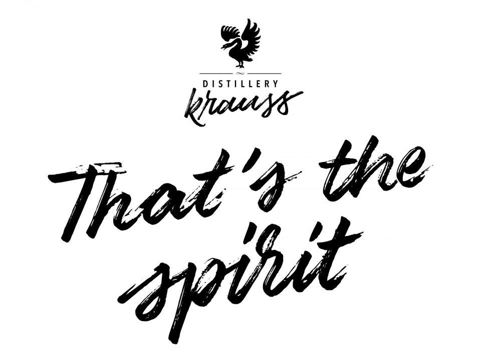 Distillery Krauss logo plus thats the spirit