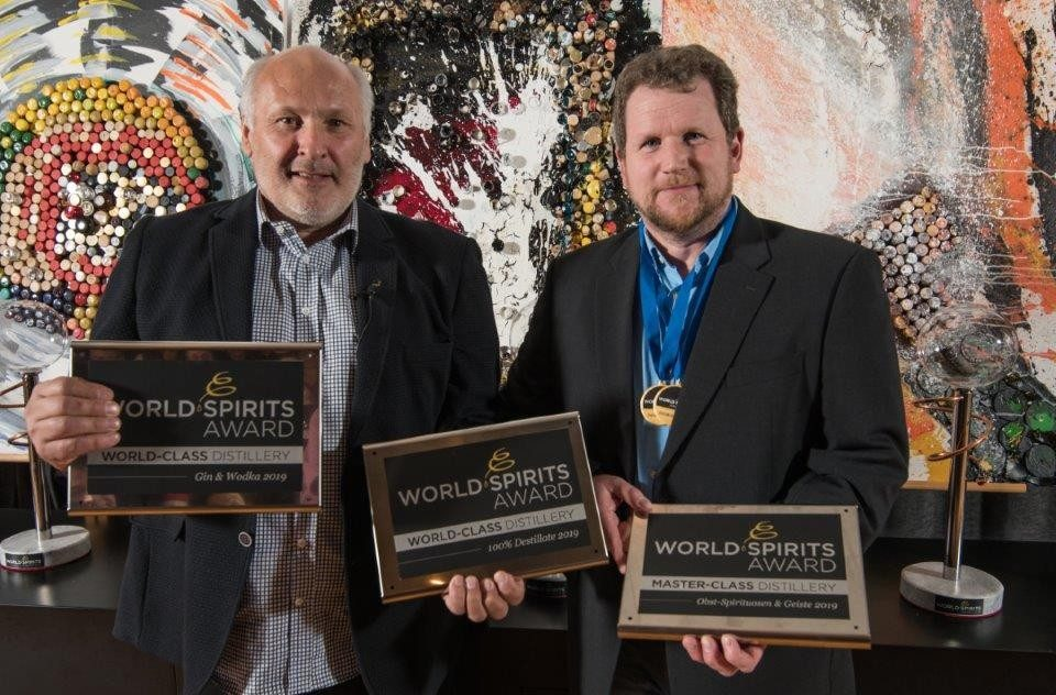 DI Dr. Werner Krauss with Wolfram Ortner at the World Spirits Award 2019